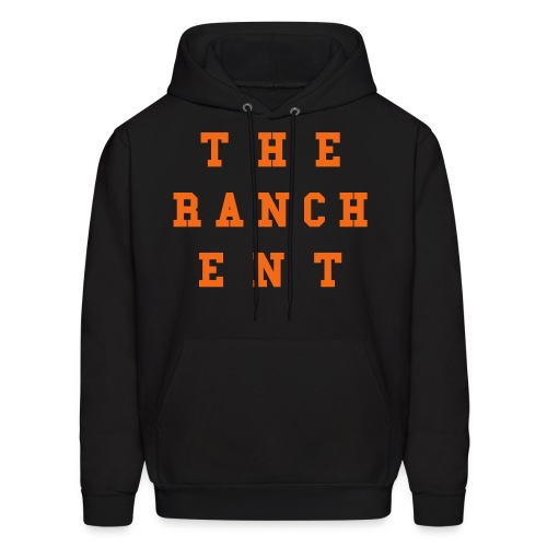Original Men's Hoodie 3 Orange on Black - Men's Hoodie