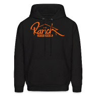 Hoodies ~ Men's Hoodie ~ Original Men's Hoodie 2 Orange on Black