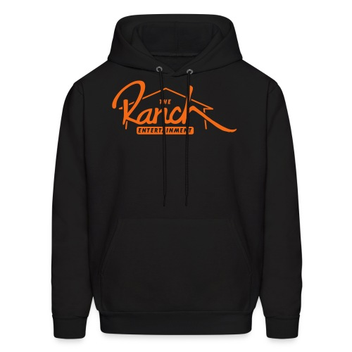Original Men's Hoodie 2 Orange on Black - Men's Hoodie