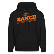 Hoodies ~ Men's Hoodie ~ Original Men's Hoodie 4 Orange on Black