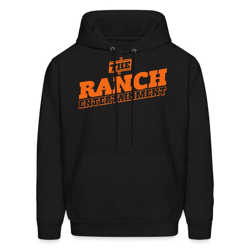Original Men's Hoodie 4 Orange on Black - Men's Hoodie