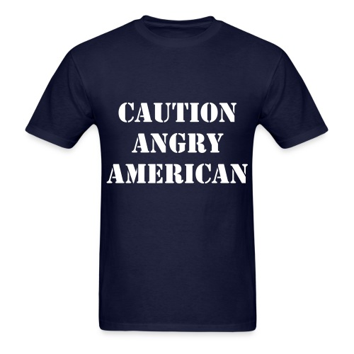 Angry American - Men's T-Shirt
