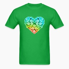 Flower Heart - Nature - Valentines T-Shirts