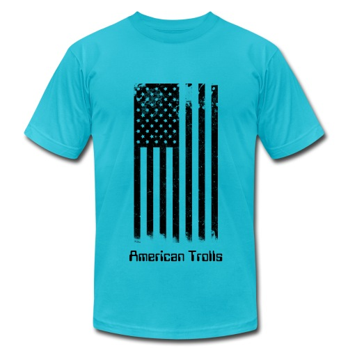 Blue American Flag shirt - Men's Fine Jersey T-Shirt