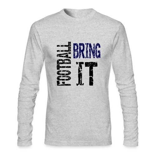 Football Bring It (blue touch) - Men's Long Sleeve T-Shirt by Next Level