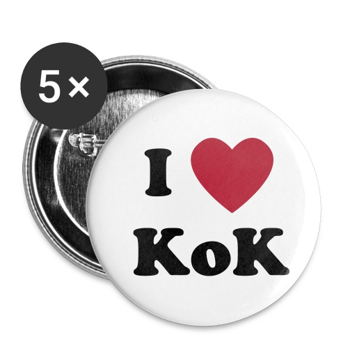 5pk I Love Kings of Kingston Buttons - Buttons large 2.2'' (5-pack)