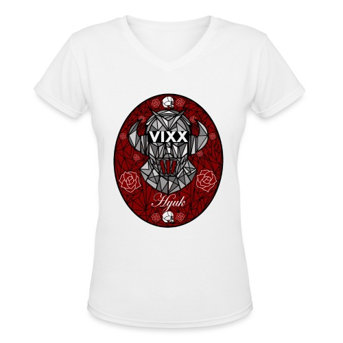 VIXX Stained Glass- Hyuk - Women's V-Neck T-Shirt