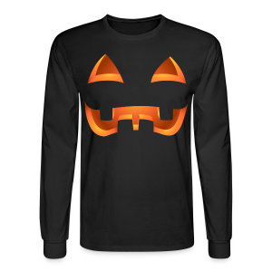 Jack-o-lantern Halloween Shirt Mens' Pumpkin Shirts - Men's Long Sleeve T-Shirt