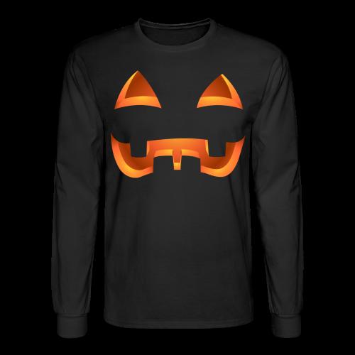 Jack-o-lantern Halloween Shirt Mens' Pumpkin Shirts - Men's Long Sleeve T-Shirt