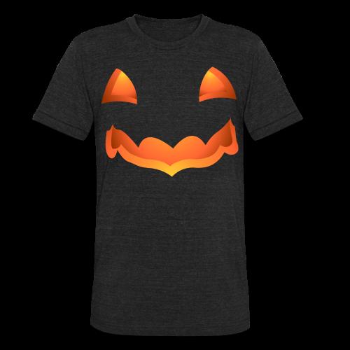 Jack-o-lantern Halloween T-Shirt Men's Pumpkin Shirts - Unisex Tri-Blend T-Shirt