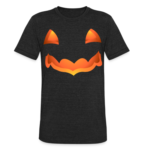 Jack-o-lantern Halloween T-Shirt Men's Pumpkin Shirts - Unisex Tri-Blend T-Shirt by American Apparel