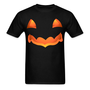 Jack-o-lantern Halloween T-Shirt Men's Pumpkin Shirt - Men's T-Shirt