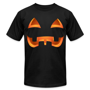 Jack-o-lantern Halloween T-Shirt Men's Pumpkin Shirt - Men's T-Shirt by American Apparel