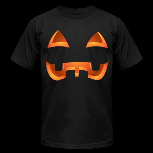 Jack-o-lantern Halloween T-Shirt Men's Pumpkin Shirt - Men's Fine Jersey T-Shirt