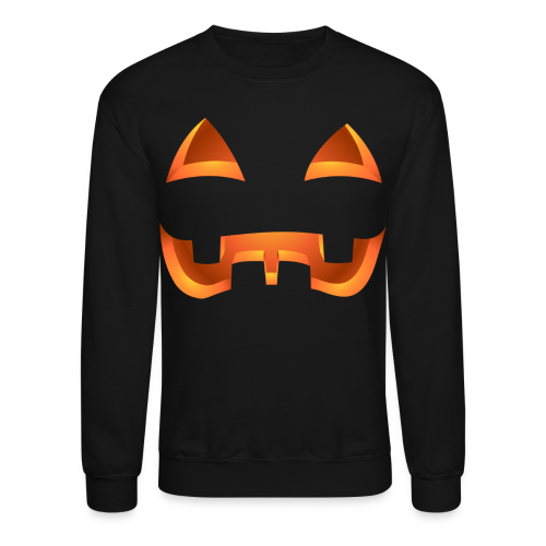 Jack-o-lantern Halloween Shirt Men's Pumpkin Sweatshirt - Crewneck Sweatshirt