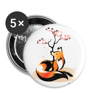 Sakura Kitsune - Large Buttons