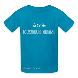 Let's Be Diabuddies - Kid's Dark Blue Box Letters - Kids' T-Shirt