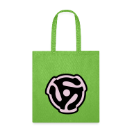 Bags & backpacks ~ Tote Bag ~ 45 rpm DJ Tote Bag (Retro) Purple