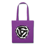 Bags & backpacks ~ Tote Bag ~ 45 rpm DJ Tote Bag (Retro) Purple