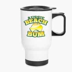Aussie BEACH Bum with Australian Map Bottles & Mugs