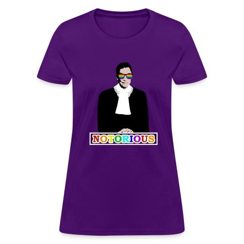 RBG is NOTORIOUS (Ladies T) - Women's T-Shirt