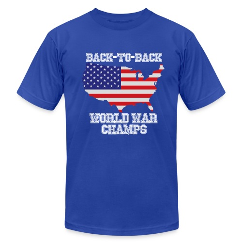 Back-to-Back World War Champs - Men's T-Shirt by American Apparel