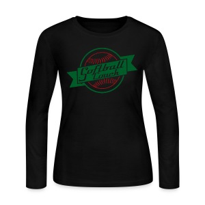 Softball Coach Retro Style T-Shirt - Women's Long Sleeve Jersey T-Shirt