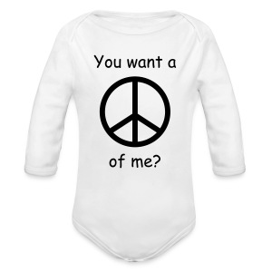 Peace Onsie - Long Sleeve Baby Bodysuit