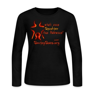 What's Even Spookier Than Halloween?  - Women's Long Sleeve Jersey T-Shirt