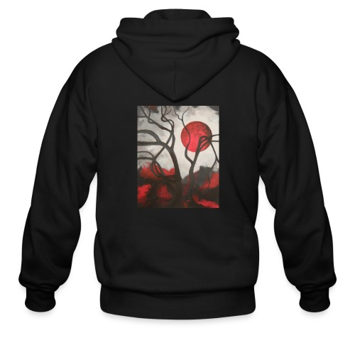 Red Moon Men's Hoodie - Men's Zip Hoodie