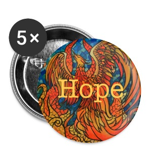 5 pack Rise Above Phoenix Buttons 2.25  - Large Buttons
