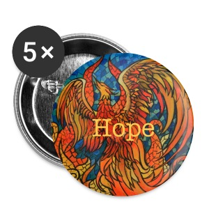 5 pack Rise Above Phoenix Buttons 1  - Small Buttons