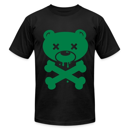 Green Bear and Crossbones - Men's Fine Jersey T-Shirt