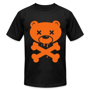 Orange Bear and Crossbones - Men's Fine Jersey T-Shirt