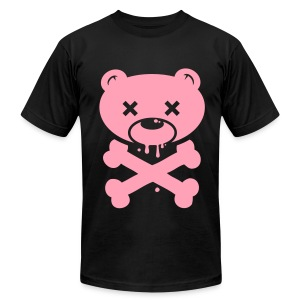 Ligt Pink Bear and Crossbones - Men's Fine Jersey T-Shirt