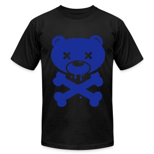 Blue Bear and Crossbones - Men's Fine Jersey T-Shirt