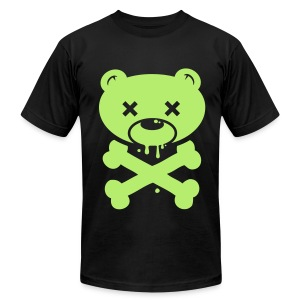Light Green Bear and Crossbones - Men's Fine Jersey T-Shirt