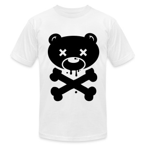 White Bear and Crossbones - Men's Fine Jersey T-Shirt