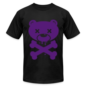 Purple Bear and Crossbones - Men's Fine Jersey T-Shirt