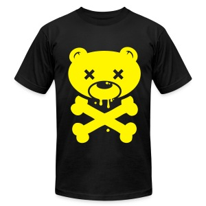 Yellow Bear and Crossbones - Men's Fine Jersey T-Shirt