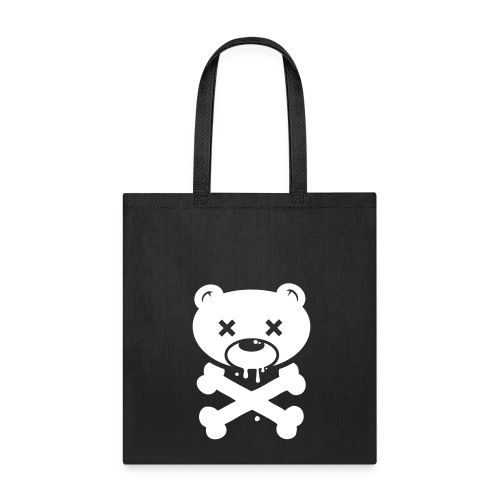 White Bear and Crossbones Tote - Tote Bag