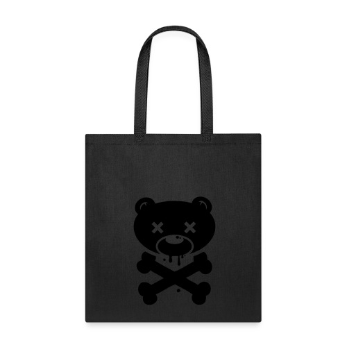 Black Bear and Crossbones Tote - Tote Bag