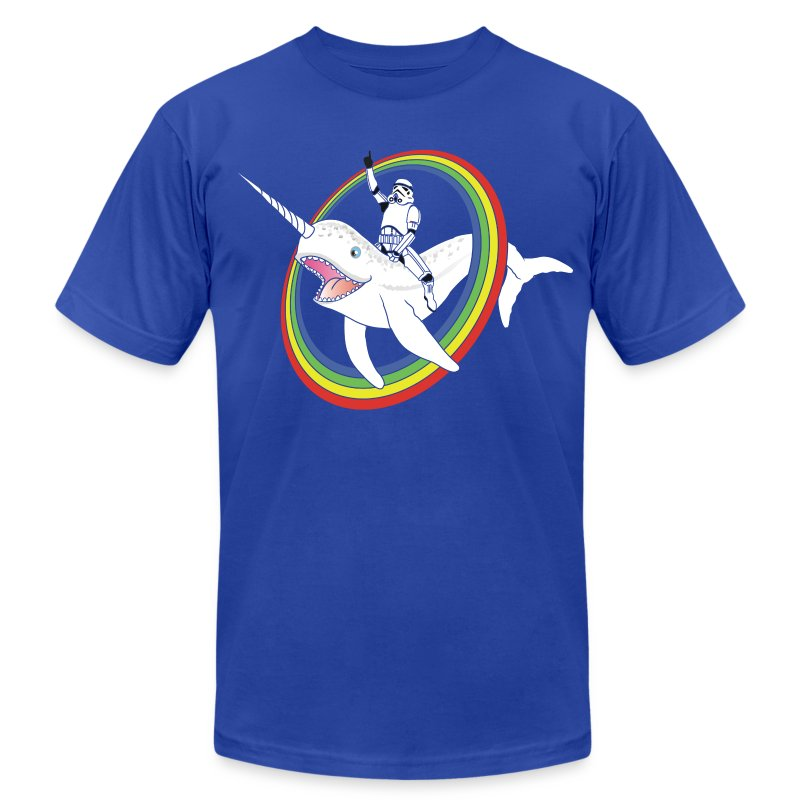 Narwhal Rainbow Stormtrooper - Men's T-Shirt by American Apparel