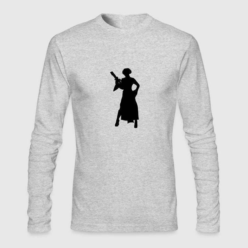 Star Wars Silhouette Long Sleeve Shirts - Men's Long Sleeve T-Shirt by Next Level