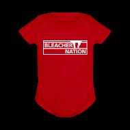 Baby Bodysuits ~ Baby Short Sleeve One Piece ~ Baby - Bleacher Nation Logo