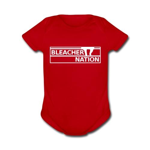 Baby - Bleacher Nation Logo - Organic Short Sleeve Baby Bodysuit