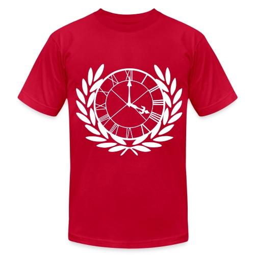 Chasing the Clock Logo T-shirt White - Men's Fine Jersey T-Shirt
