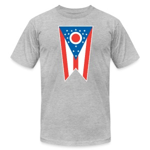 Ohio State Flag AA T-Shirt (gray) - Men's Fine Jersey T-Shirt