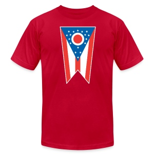 Ohio State Flag AA T-Shirt (red) - Men's Fine Jersey T-Shirt