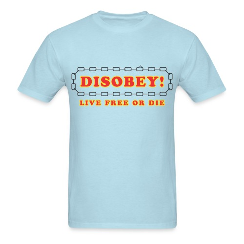 disobey live free or die - Men's T-Shirt